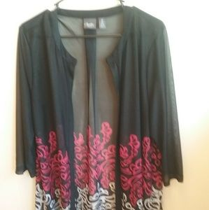 TRAVELERS COLLECTION BY CHICOS KIMONO. SIZE 2